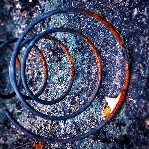 The 'The Beauty of Rust' collection of aging metals and its beaut,y displayed in the abstract world.